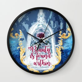 Fairytale - Beauty is found within Wall Clock
