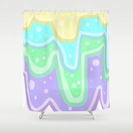Colorful Goop Shower Curtain