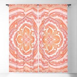 Mandala pattern - Indian floral motif Blackout Curtain