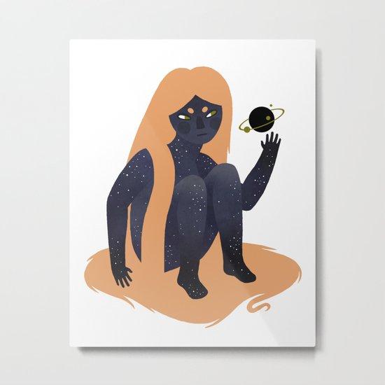 Space Girl 9 Metal Print