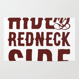 CAN_T HIDE MY REDNECK SIDE T-SHIRT Rug