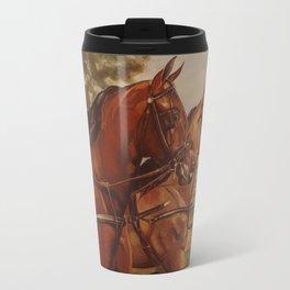 Two Morgans in Harness Travel Mug