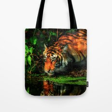 Paying Homage To The Jungle King Tote Bag
