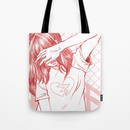 Girl with a broken heart Tote Bag