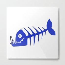 Pirate Bad Fish blue- pezcado Metal Print