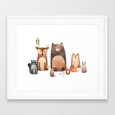 forest friends Framed Art Print