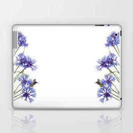 Slant blue cornflower flowers Laptop & iPad Skin