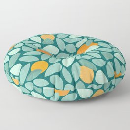 Sunny Orange Grove Floor Pillow