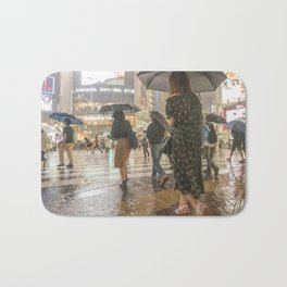 Rain In Shibuya Bath Mat