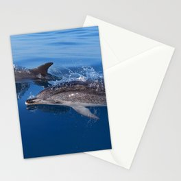 Mother and baby spotted dolphin Stationery Cards