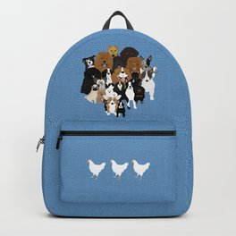 Dogs, A Cat, And A Chicken Backpack
