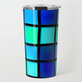 Blue and Green Tiles Travel Mug