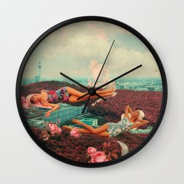 Those Pink Afternoons Wall Clock