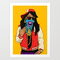 mcfreshcreates Art Prints featuring Way Too Popular by McfreshCreates