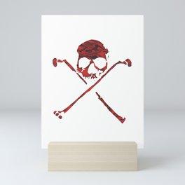 Calavera Roja Mini Art Print
