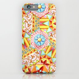 Pink Paisley Hexagons iPhone Case