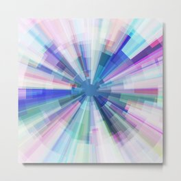 Explosion of Blue Gravity Metal Print