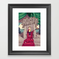 The GOOD Morty Framed Art Print