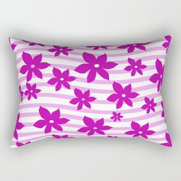 Big pink blossoms with waves Rectangular Pillow