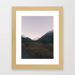 The road to mount Cook Framed Art Print