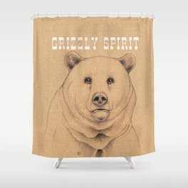 Grizzly Spirit Shower Curtain