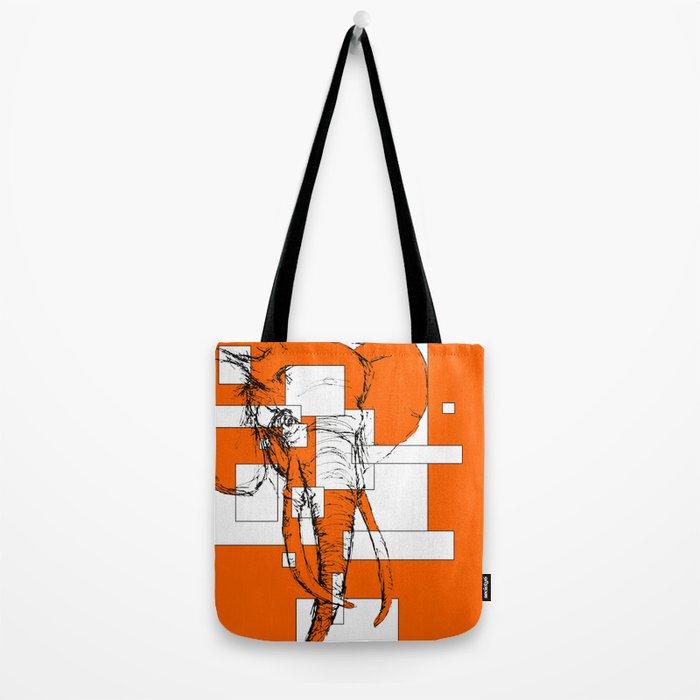 Orange is the New Elephant Tote Bag