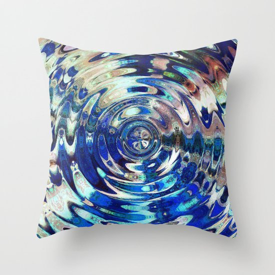Water Element Ripple Pattern Throw Pillow
