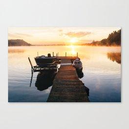 Sunrise at the Cottage Canvas Print