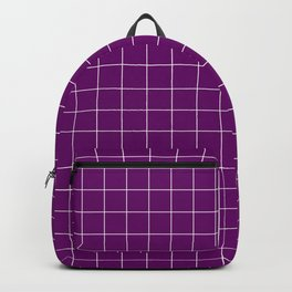 Violet with White Grid - more colors Backpack