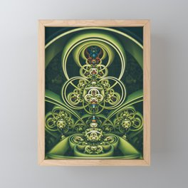 Time Shell IV. Green Abstract Geometry Framed Mini Art Print