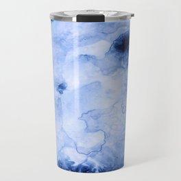 Marbled Water Blue Travel Mug