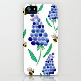 Muscari & Bees iPhone Case