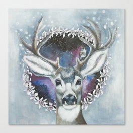 Winterdeer Canvas Print