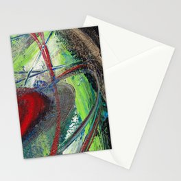 Red Saturn Stationery Cards