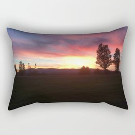 Oak Hills Golf Course Sunset Rectangular Pillow