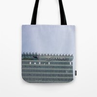 building Tote Bags featuring Building by RMK Photography