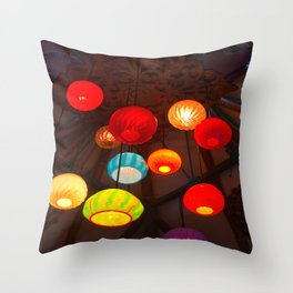 Lights at Mama's Fish House, Maui Throw Pillow