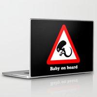 ripley Laptop & iPad Skins featuring Baby on board by dutyfreak