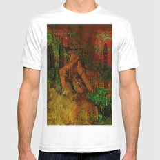 The last minutes of Joan of Arc Mens Fitted Tee White MEDIUM