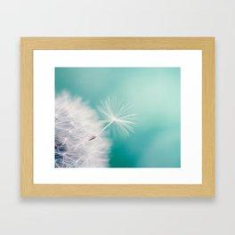 Dandelion Flight Framed Art Print