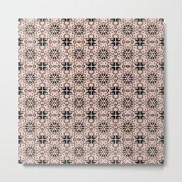 Pale Dogwood Star Geometric Metal Print