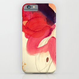 gestural abstraction 01 iPhone Case