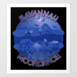 Savannah Moondance Art Print