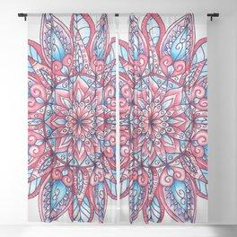Floral Mandala Sheer Curtain