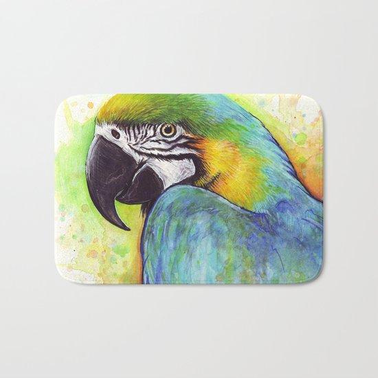 Macaw Bird Parrot Colorful Tropical Animal Bath Mat