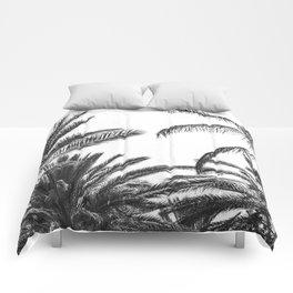 Palm Trees B&W Comforters