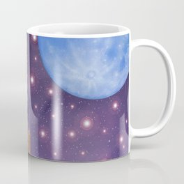 Moai & Moon in Universe Coffee Mug