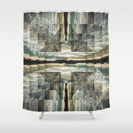 Lichens Shower Curtain