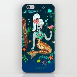 Blonde Leopard Martini Mermaid iPhone Skin