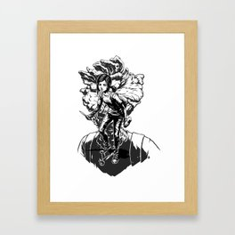 Ellie Last Of Us black Framed Art Print